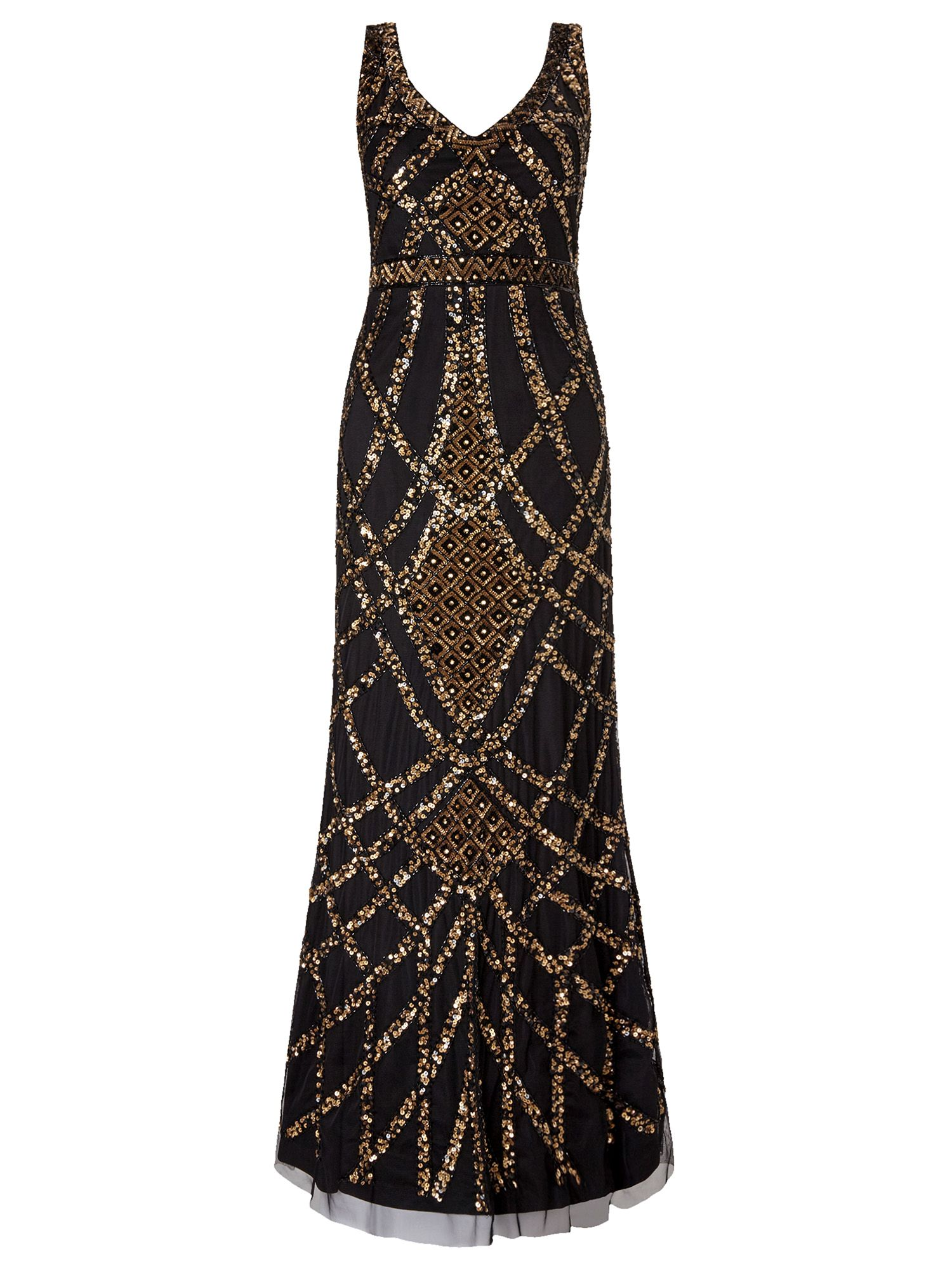 Ariella Nahla Full Length Beaded Evening Gown $349.00 AT vintagedancer.com