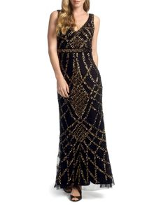 Nahla Full Length Beaded Evening Gown