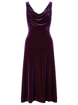 alainis velvet cocktail dress