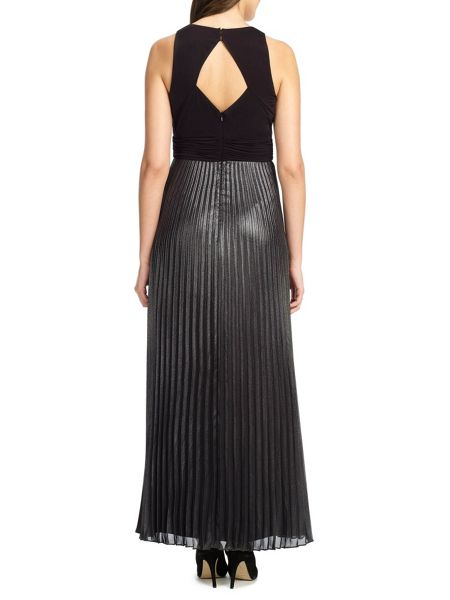 Ariella Carrie metallic skirt dress