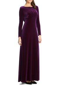 Ariella Navy rafaella long sleeve velvet dress