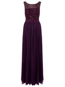 Ariella cynthia long beaded dress