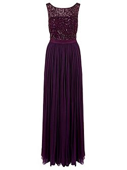 cynthia long beaded dress