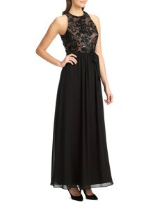 Ariella kora sequin lace maxi dress