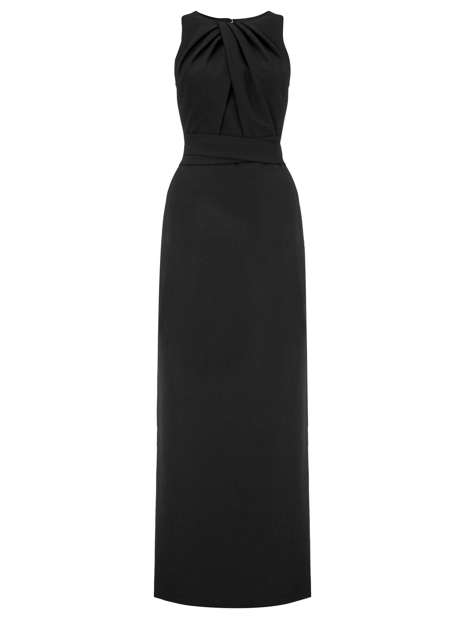 Ariella hope illusion evening dress, Black