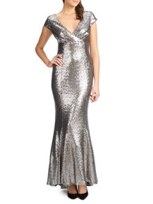 Ariella venetia long sequin dress
