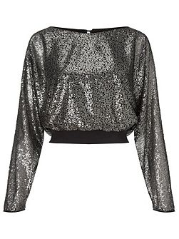 tia all over sequin top