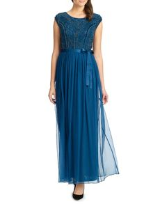 Ariella greta embellished top long dress