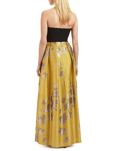 Ariella Gigi bandeau jacquard skirt dress