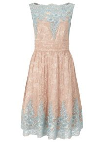 Ariella Riley scalloped lace dress