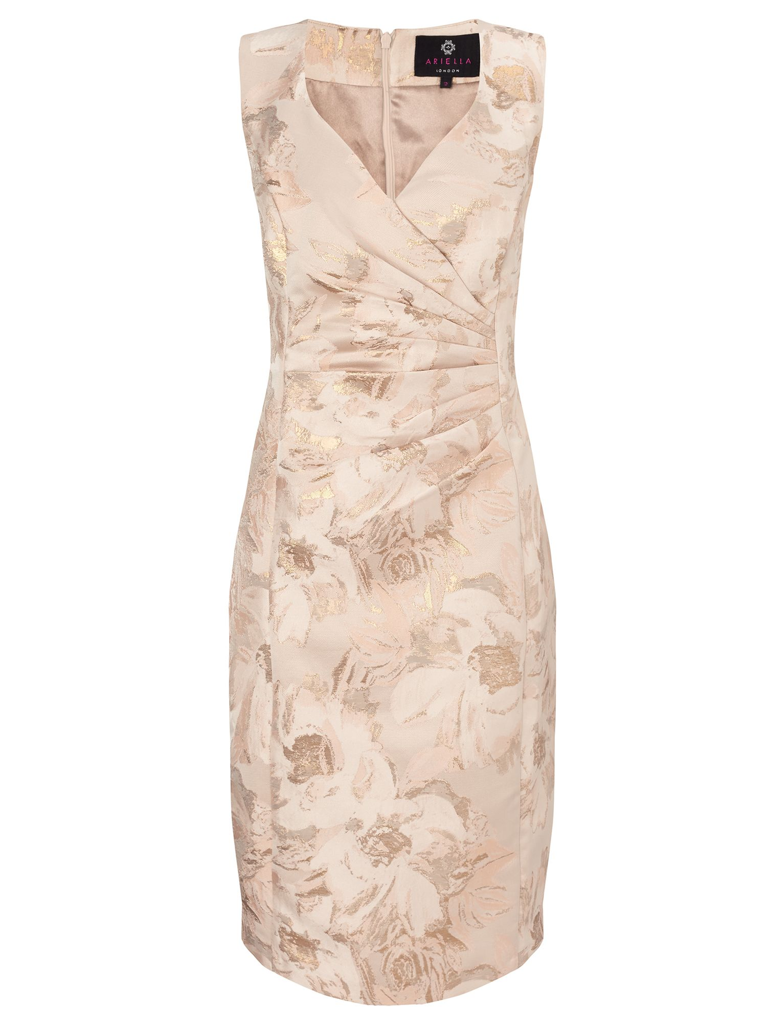 Ariella Dara midi jacquard dress, Gold