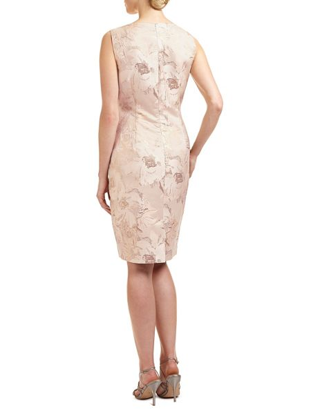 Ariella Dara midi jacquard dress