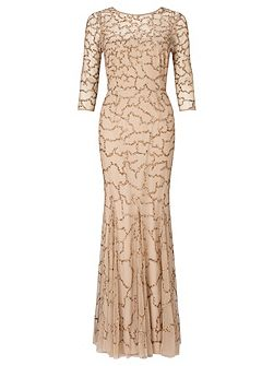 Indi long 3/4 slve beaded dress