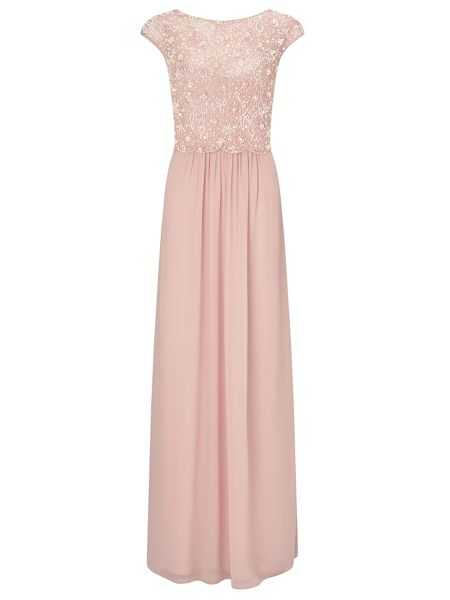 Ariella Amerie long dress with beaded overlay