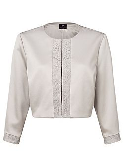 Carine lace trim jacket