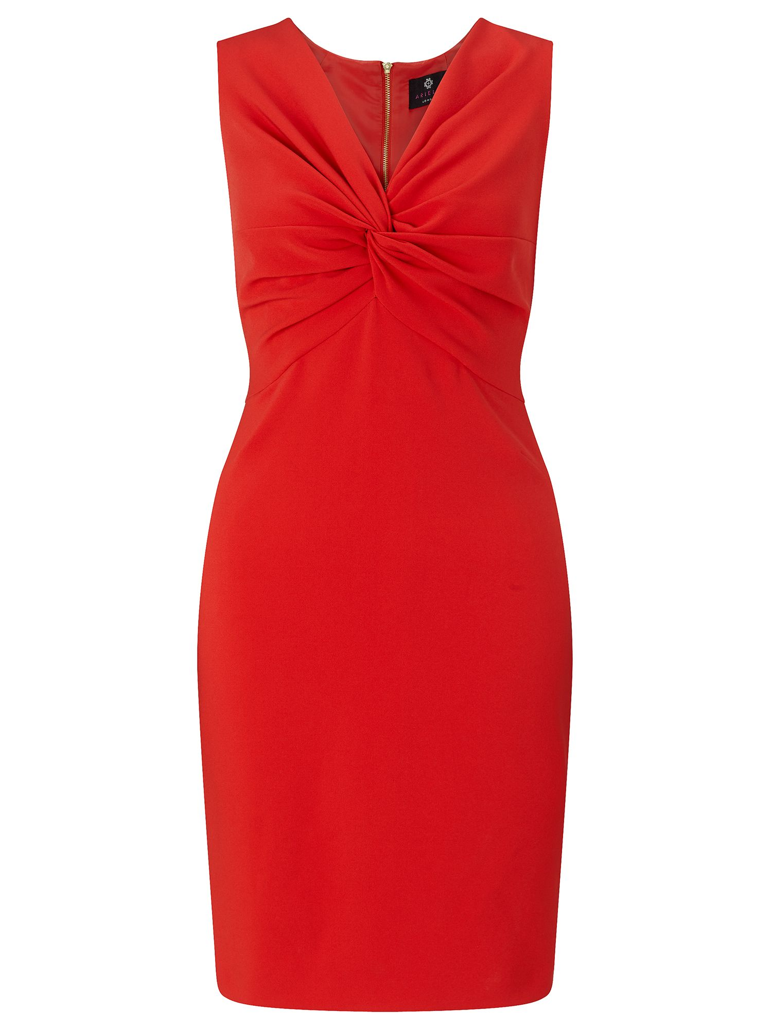 Ariella Margot tie knot shift dress, Red