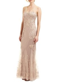 Ariella Juno beaded lace long dress