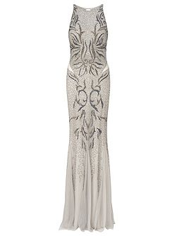 Areida beaded long dress