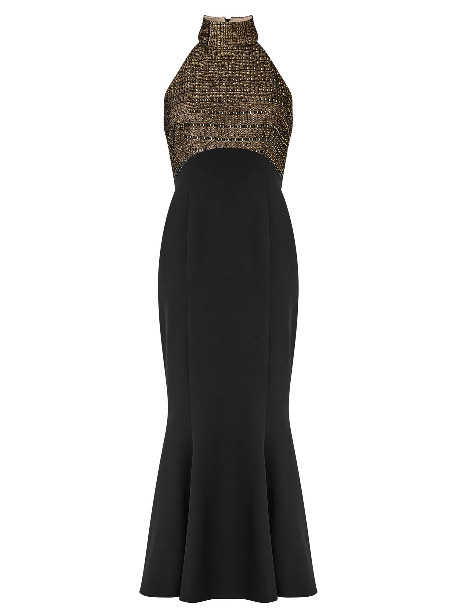 Ariella Imelda Halterneck Dress, Black