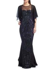 Ariella Willow Embellished Drape Dress