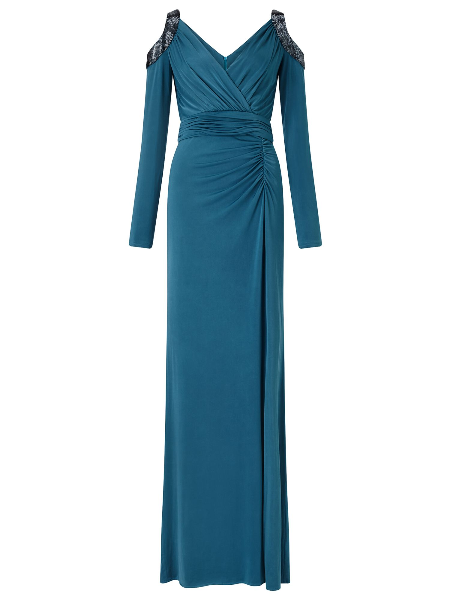 Ariella Yoko Open Shoulder Jersey Dress, Teal