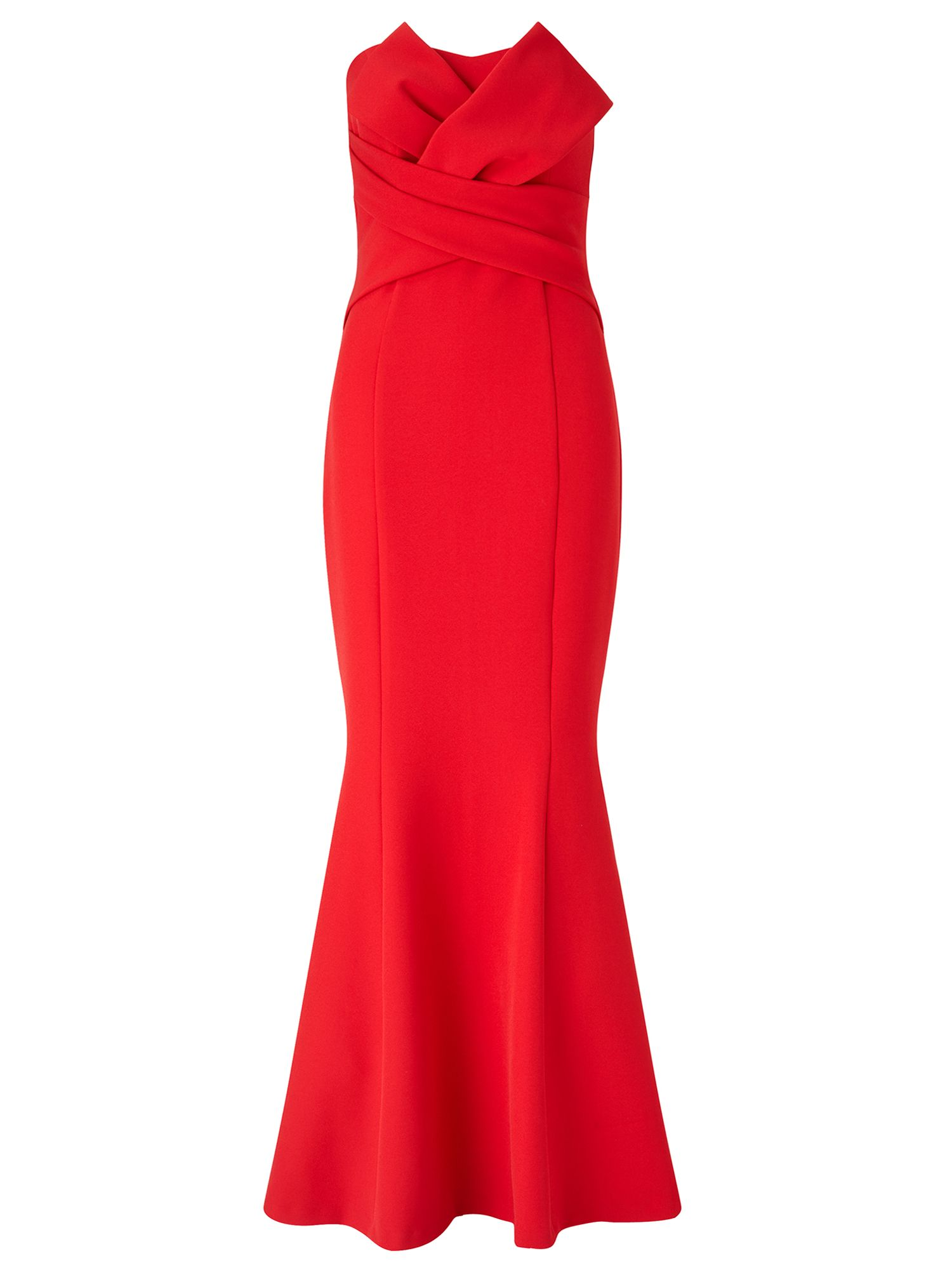 Ariella Katinka Structured Strapless Dress, Red