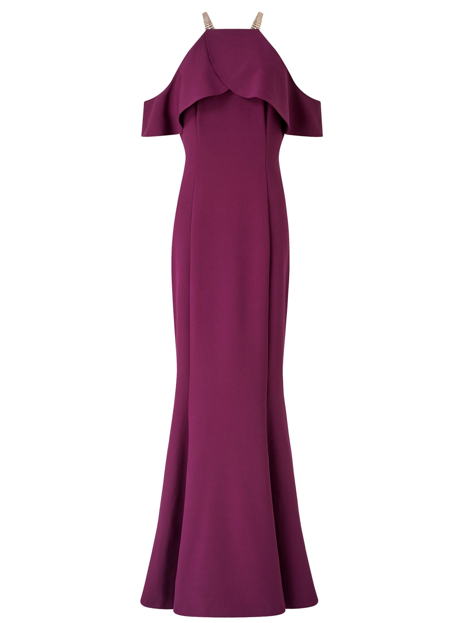Ariella Rita Drop Shoulder Peplum Dress, Purple