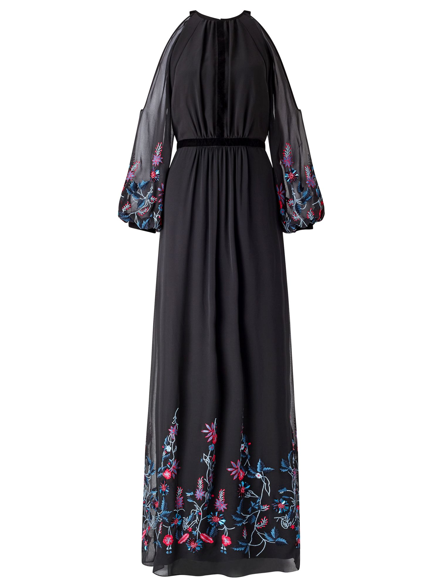 Ariella Sheba Embroiderey Dress, Black