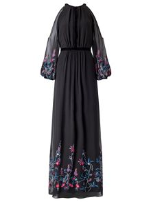 Ariella Sheba Embroiderey Dress
