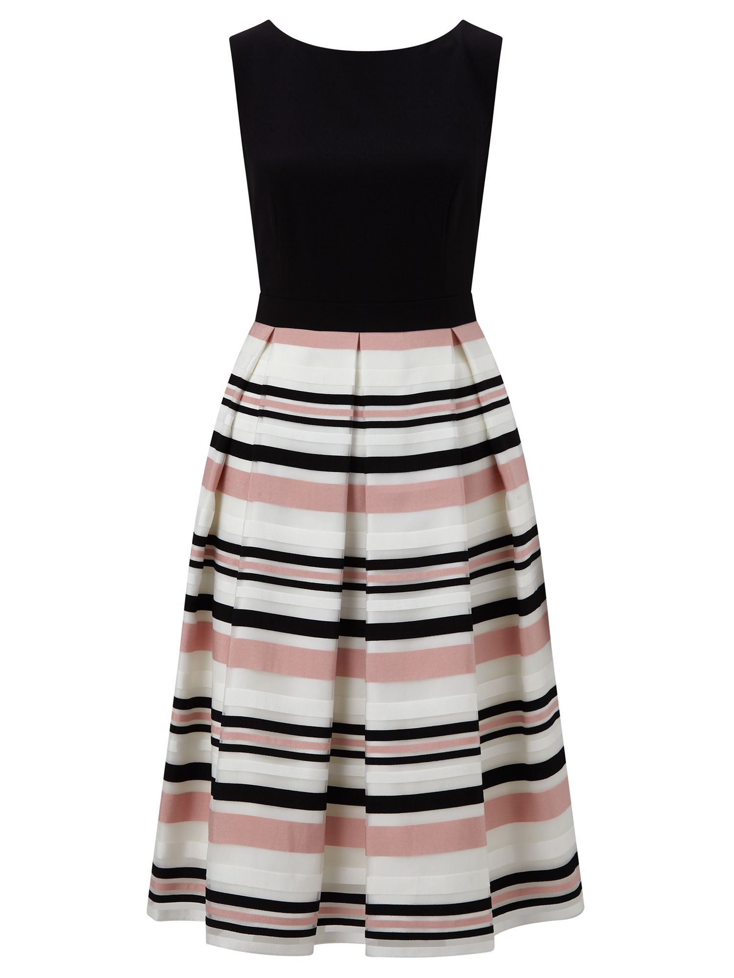 Ariella Peach Stripe Prom Dress, Multi-Coloured