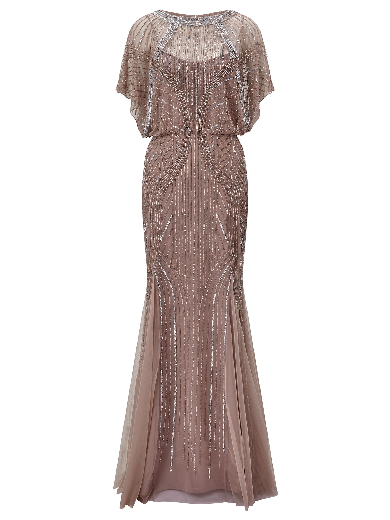 Ariella Couture Steffy Maxi Dress, Nude