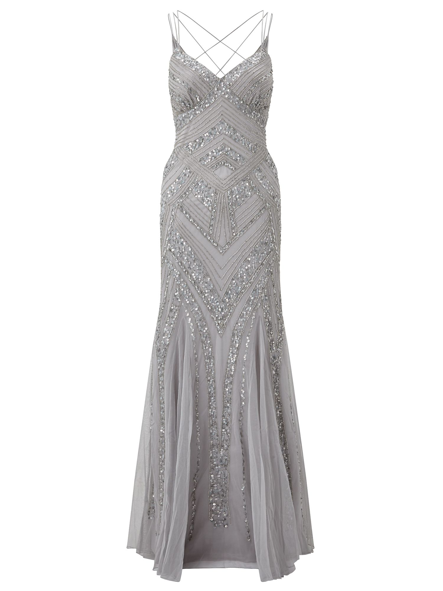 Ariella Perla Maxi Dress, Silver Silverlic