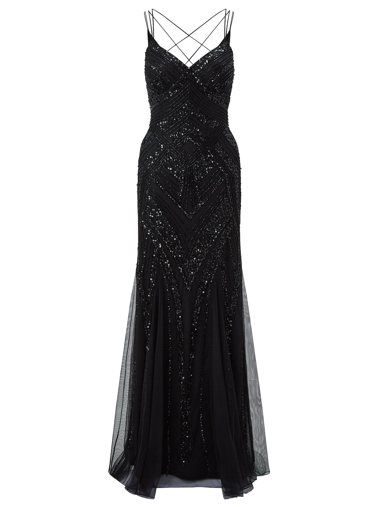 Ariella Perla Embellished Maxi Dress Black