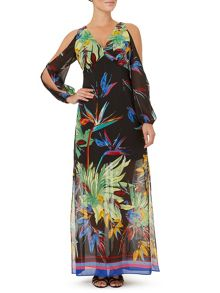 Ariella Rosey Slit Sleeve Maxi Dress