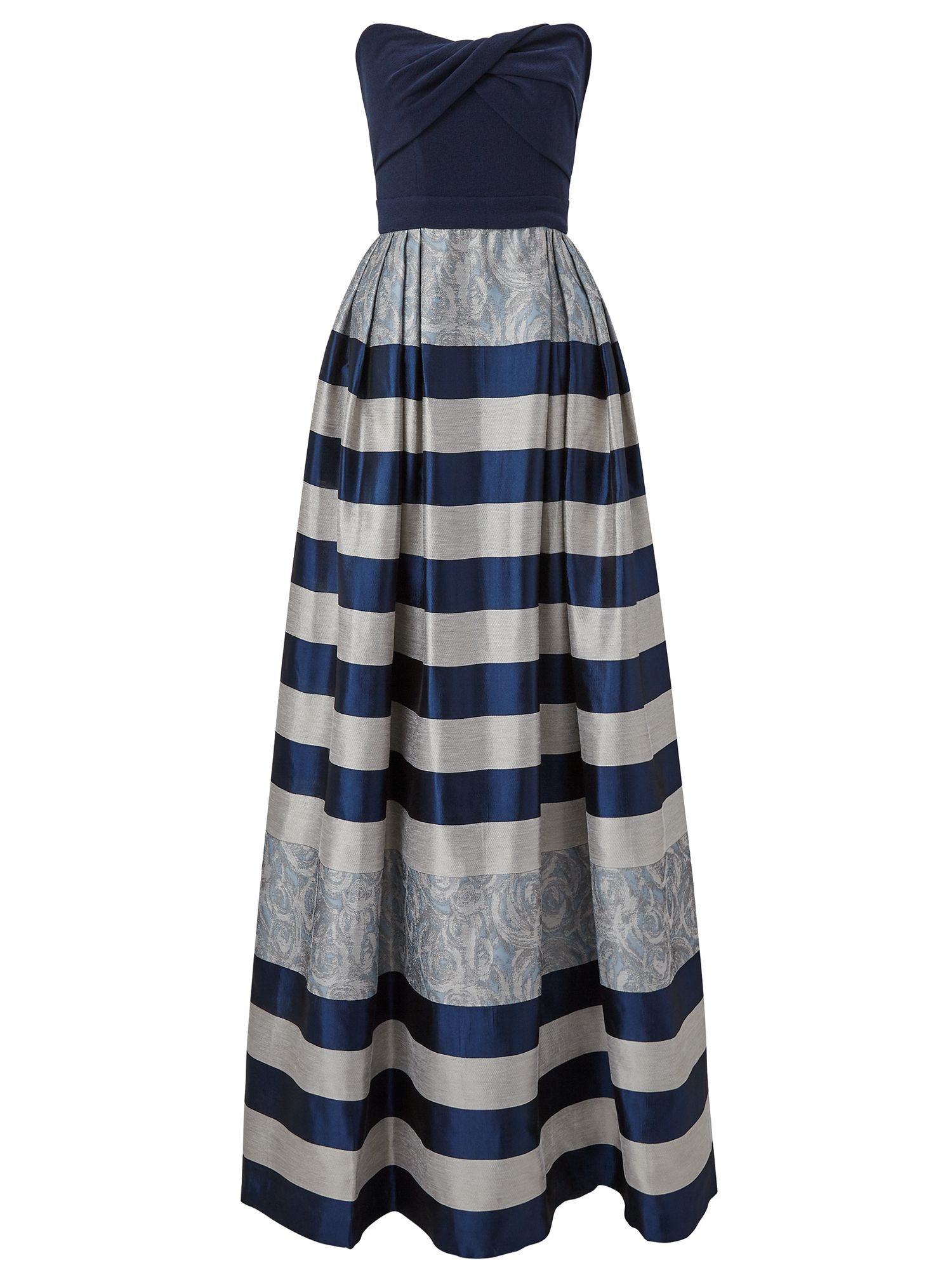 Ariella Ariella Vince Stripped Jacquard Maxi Dress, Blue