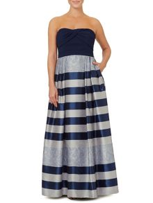 Ariella Ariella Vince Stripped Jacquard Maxi Dress