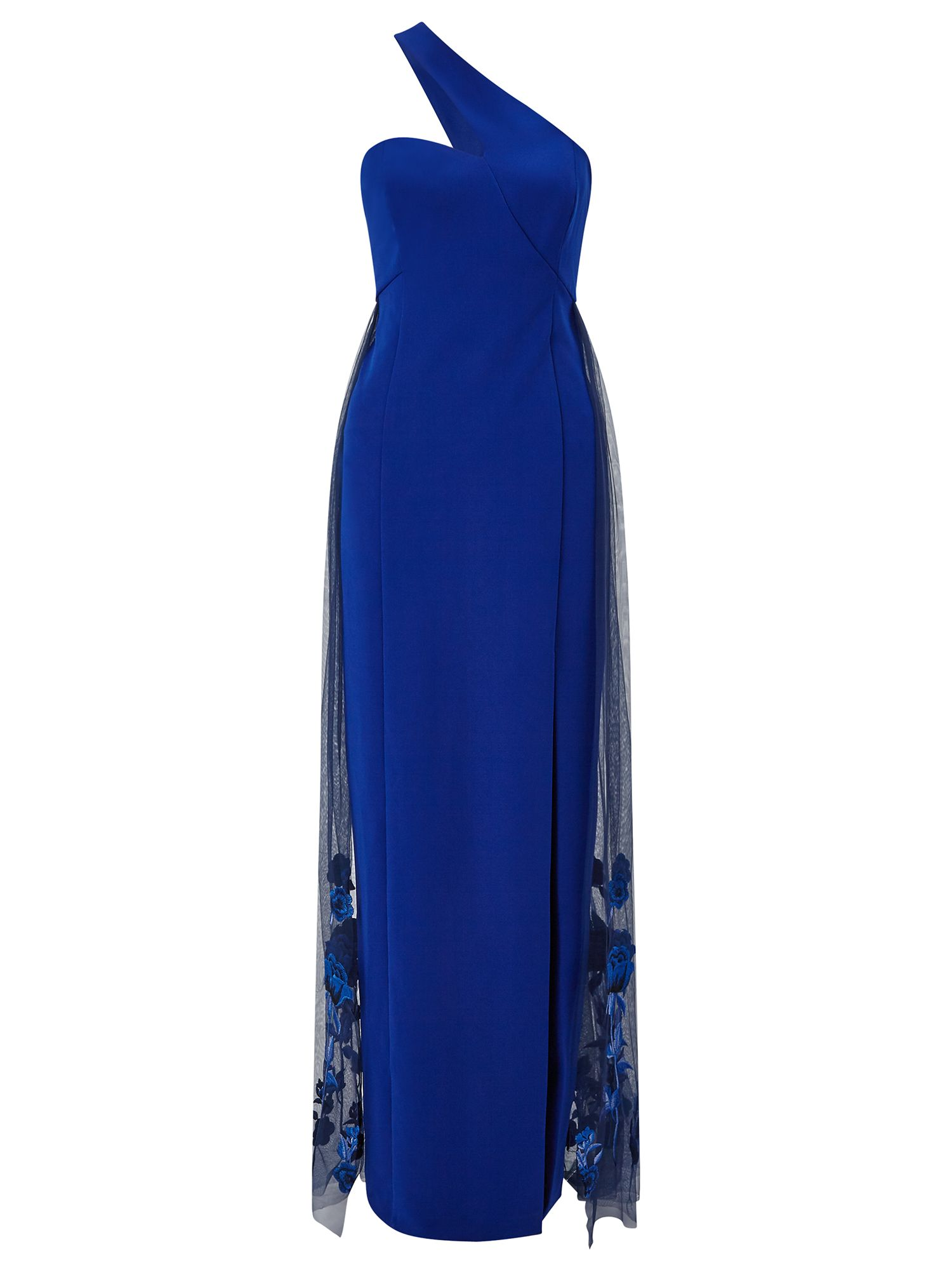 Ariella Couture Lexi One Shoulder Maxi Dress, Blue