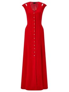 Ariella Flavia Button Front Maxi Dress