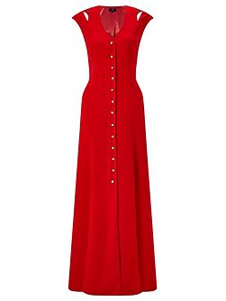 Flavia Button Front Maxi Dress