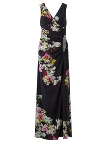 Ariella Selina Printed Maxi Dress