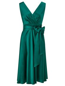 Ariella Belladonna Satin Fit and Flare Dress
