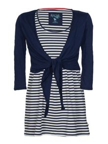 Frugi Organic Maternity top and tie cardigan