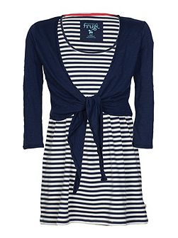 Maternity top and tie cardigan