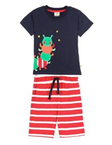 Frugi Organic Baby Boys Little Boys Summer Pjs