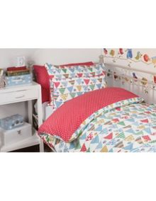 Frugi Organic Uk Single Bed Set - Bunting