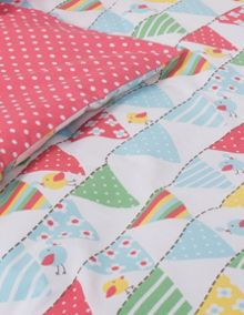 Frugi Uk Single Bed Set - Bunting