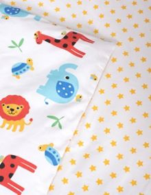 Frugi Organic Uk Single Bed Set - Safari