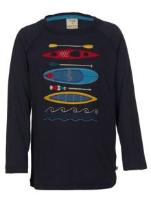 Boys oscar applique top