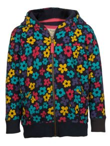 Frugi Girls cosy zip up hoody