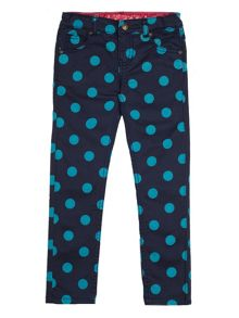 Frugi Organic Girls sennen slim trouser